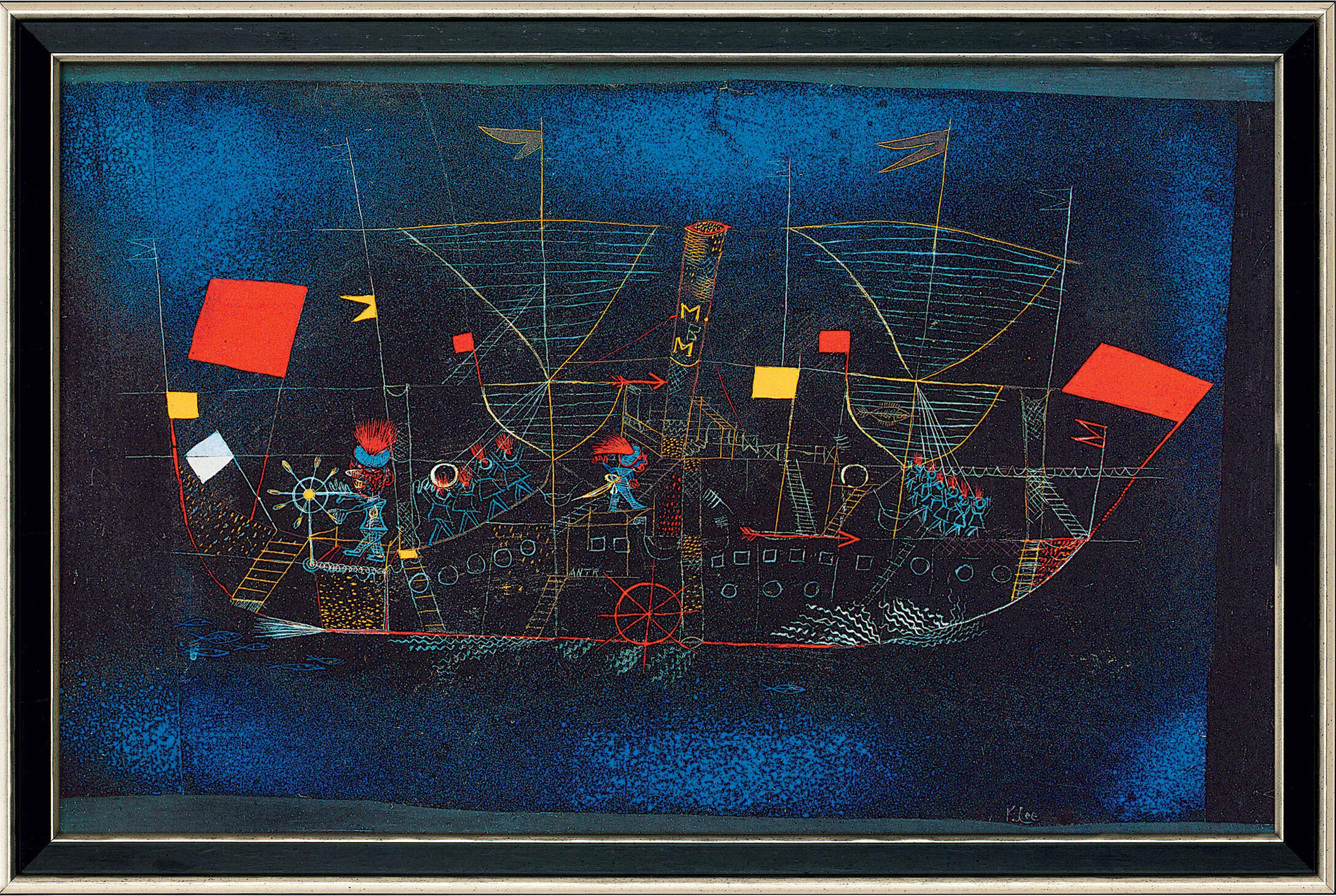 The adventure ship by p klee reproduction framed for Airbrushing mural