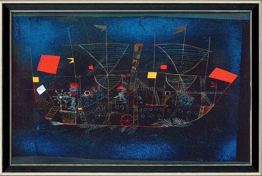 "Paul Klee: Bild ""Abenteuerschiff"" (1927), gerahmt"
