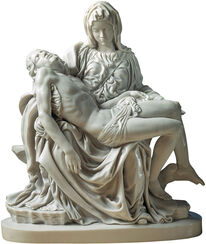 "Sculpture ""Pietà"" (1489-99), reduction in artificial marble"