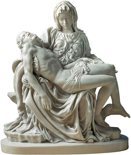"Michelangelo Buonarroti: Sculpture ""Pietà"" (1489-99), reduction in artificial marble"