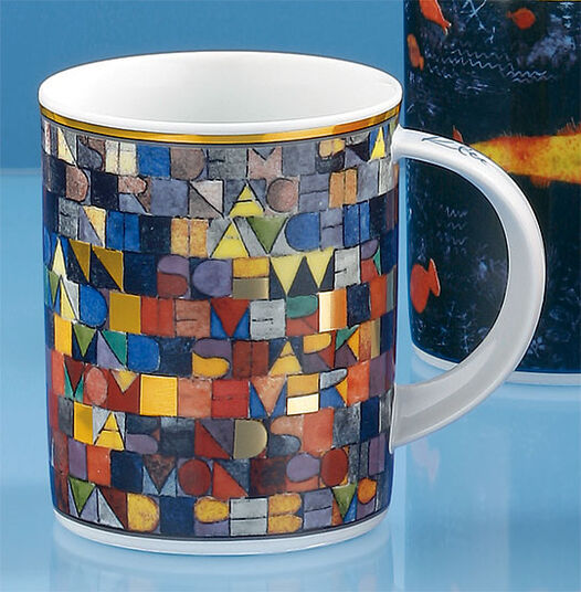"""Paul Klee: Coffee mug """"Once Emerged from the Gray of Night"""" (1918)"""