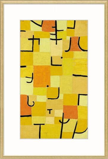 """Paul Klee: Bild """"Zeichen in Gelb"""" (1937), gerahmt"""