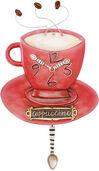 "Wanduhr ""Cappuccino"", Keramik handbemalt"