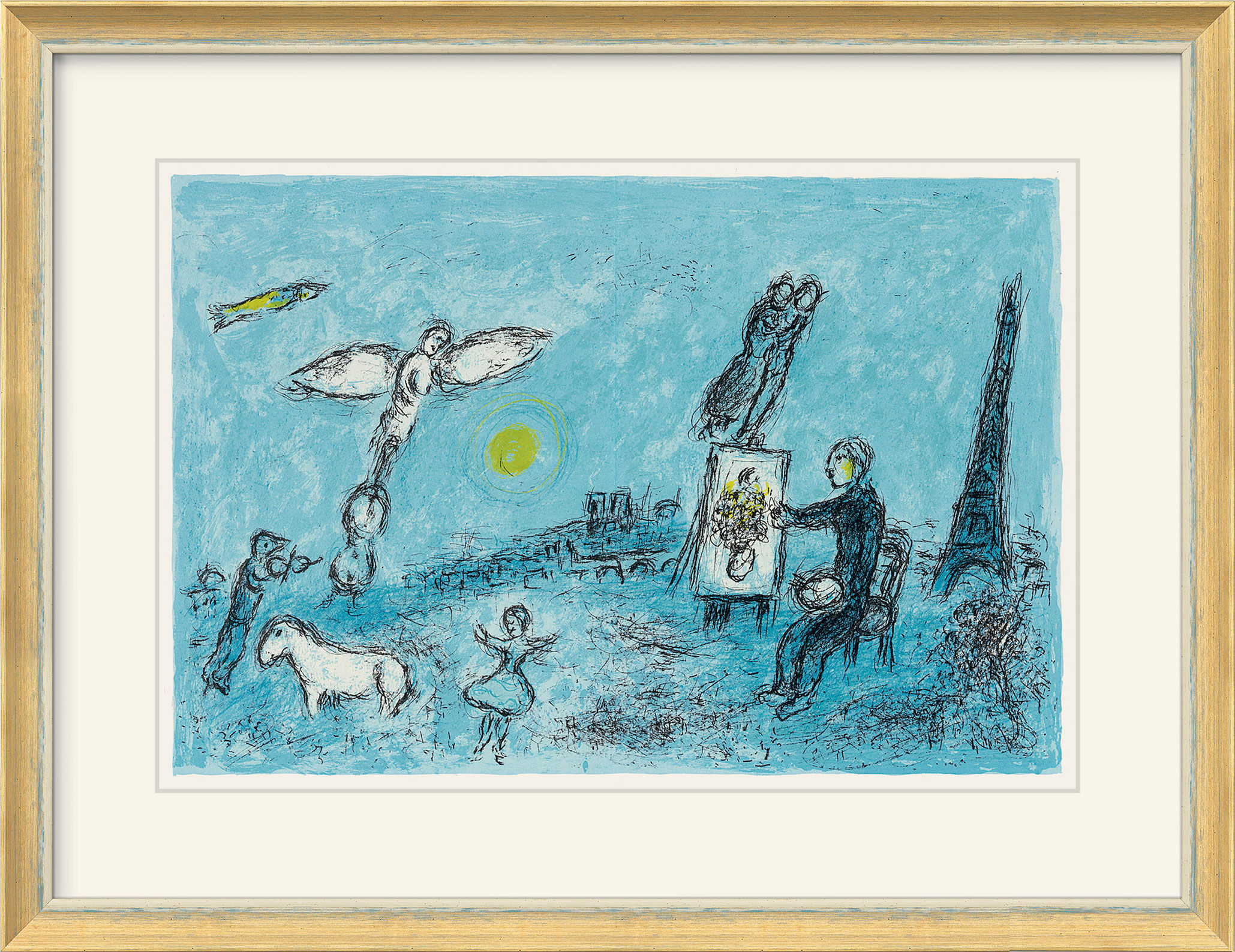 marc chagall bild der maler und sein abbild 1981 artes. Black Bedroom Furniture Sets. Home Design Ideas