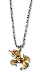 "Necklace gold ""Unicorn"", 925 Sterling silver"