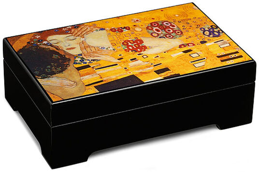 "Gustav Klimt: Musical jewelry box ""The Kiss"" - after Gustav Klimt"