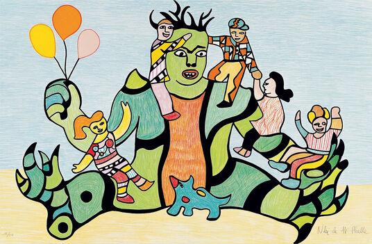 """Niki de Saint Phalle: Picture  """"Méchant, Méchant"""" (1996)"""