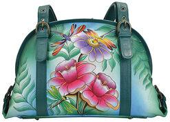 """Schultertasche """"Flowers"""" der Marke Anuschka® mit extra Handy-/Kosmetiktasche"""