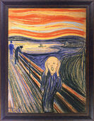 "Painting ""The Scream"" (1895)"