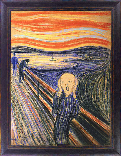 Image result for the scream by edvard munch, 1895