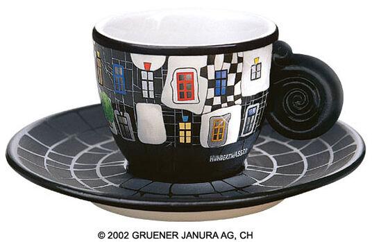 """Friedensreich Hundertwasser: Espresso Cup """"KunstHausWien"""""""