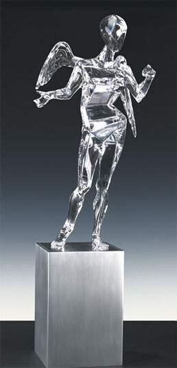 "Salvador Dalí: Kristall-Skulptur ""Der Kubistische Engel"""
