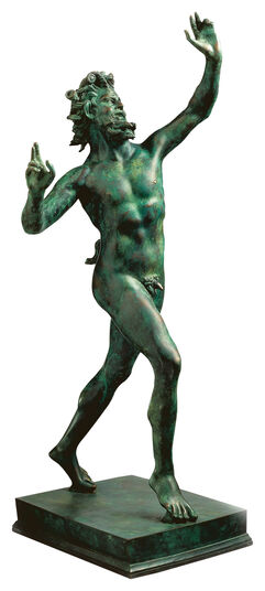 "Skulptur ""Fauno Danzante aus Pompeji"" (Originalgröße), Version in Bronze"