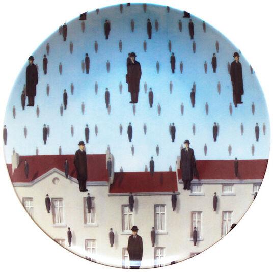 """René Magritte: Porzellanteller """"Golconde"""""""
