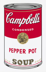 "Bild ""Warhols Sunday B. Morning - Campbell´s Soup - Pepper Pot"" (1980er Jahre)"