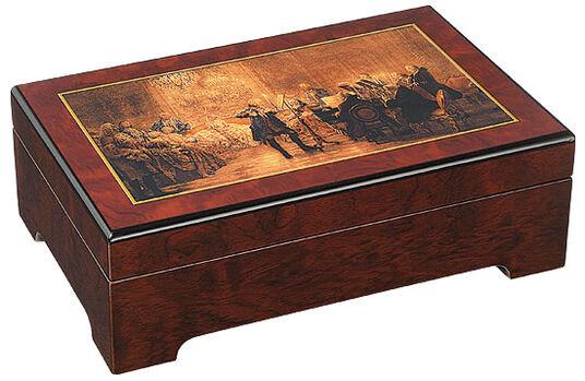 "Adolph von Menzel: Musical jewelry box ""The Fredrick the Great Flute Concerto "" - by Adolph von Menzel"