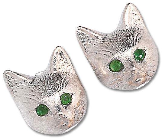 Christiane Wendt: Stud earrings 'Silver Bastet'