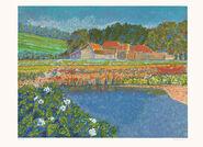 """Bild """"Reflets sur l'étang"""" (1990), ungerahmt"""