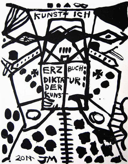 "Jonathan Meese: Bild ""MUTTER DER ERZLOGIK: FIT, also TOPFIT,..."