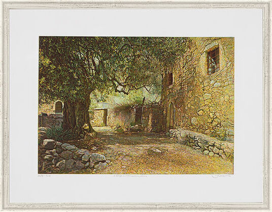"Günther Hermann: Picture ""Farm with Olive Trees, Kreta"""
