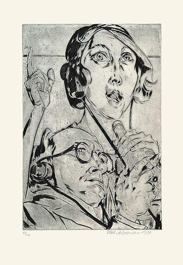 "Max Ackermann: Bild ""Radio"" (1924)"