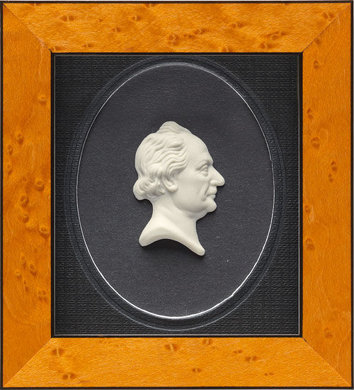 "Porcelain Painting ""Johann Wolfgang von Goethe"""