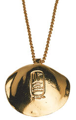"Pendant ""Golden Shell of King Sesostris"" with necklace"