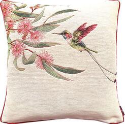 "Kissenhülle ""Humming-Bird I (Kolibri), cream"""