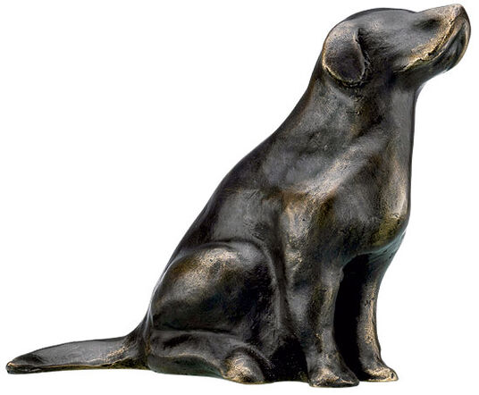 "Mechtild Born: Sculpture ""Retriever"" (2012), Bronze"