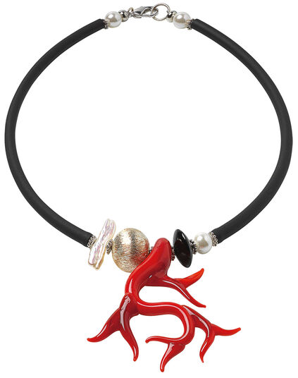 "Anna Mütz: Necklace ""Glass Coral"""