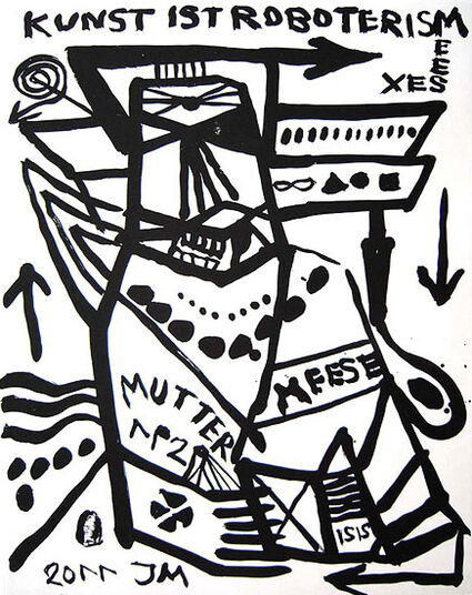 """Jonathan Meese: Bild """"MUTTER DER 1. ORDNYNG: AUSRICHTUNG"""" (2011)"""