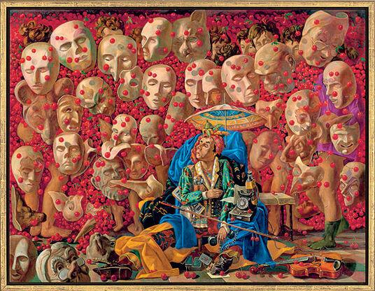 """Kaikaoss: Bild """"Die neuen Kirschen"""" (2008), gerahmt"""