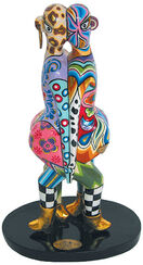 "Zodiac Sculpture ""Gemini"", artificial marble, hand-painted"