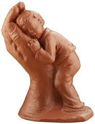 """Skulptur """"Getröstet"""", Steinguss"""