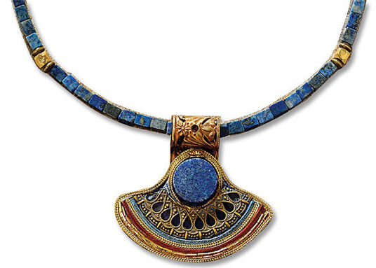 Petra Waszak: Lapis lazuli king's necklace