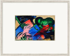 "Painting ""Green Horse"" (1912), Framed"