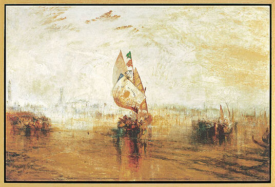 "William Turner: Painting ""The Sun of Venice"" (1843)"