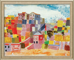 """Painting """"Sicily at S. Andrea"""" (1924), Framed"""