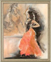 """Painting """"Spanish Dance"""", framed"""