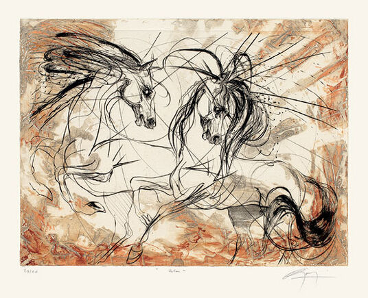 "Jean-Marie Guiny: Bild ""Zetun"" (2000), ungerahmt"