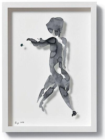 "Stefan Lang: Bild ""Einblick (schwarz)"", 2010"