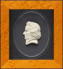"""Miniatur-Porzellanbild """"Beethoven"""", gerahmt"""