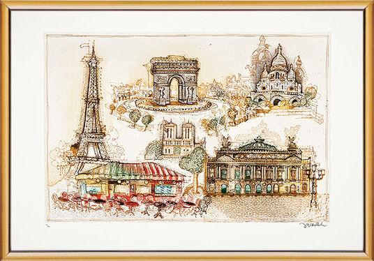 """Simon Dittrich: Bild """"Paris"""", gerahmt"""