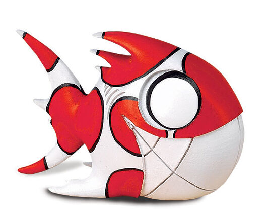 "Cane Cooper: Skulptur Cultfish ""Freddy the Red"", Steinmasse"
