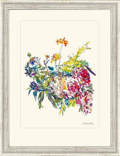 "Oskar Kokoschka: Bild ""Sommerblumen mit Rosen"", 1969, gerahmt"