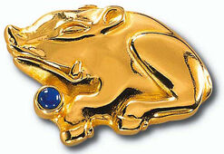 """Chinese zodiac sign of """"pig"""" with birthstone lapis lazuli, necklace"""