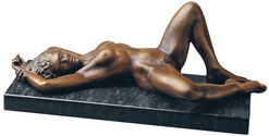 "Sculpture ""Europa"" (1992), version in bronze"