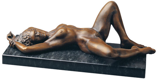 "Peter Hohberger: Sculpture ""Europa"" (1992), version in bronze"