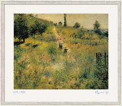 """Bild """"Weg durch die Wiesen"""" (1876/77), gerahmt"""