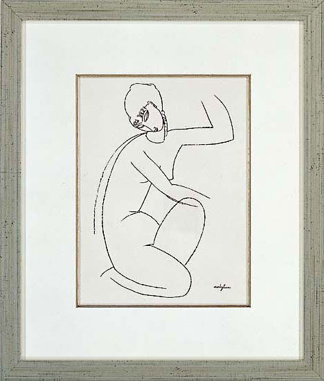 """Picture """" Nude Female I."""" in a frame"""
